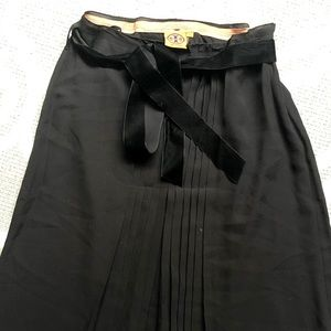 Tory Burch midi length, high-rise pleated skirt